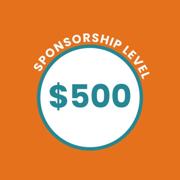 $500 Sponsorship Level